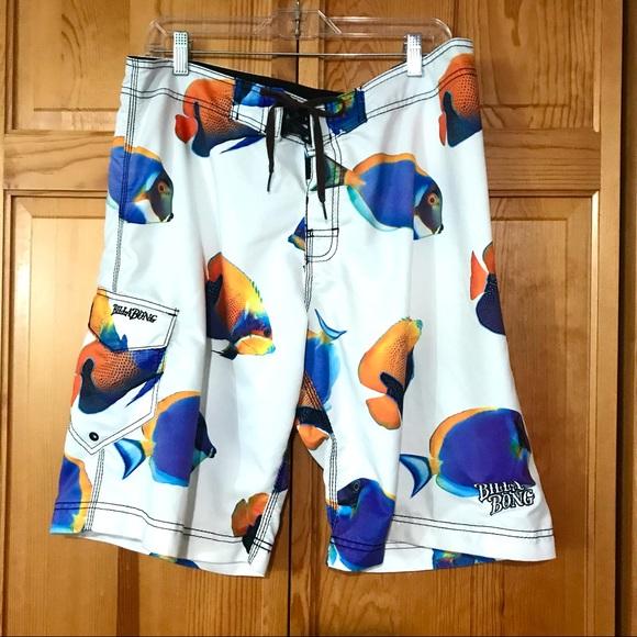 Billabong Mens 36 Board Shorts Angelfish